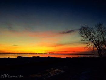January Sunrise Red Arrow Park Marinette, WI